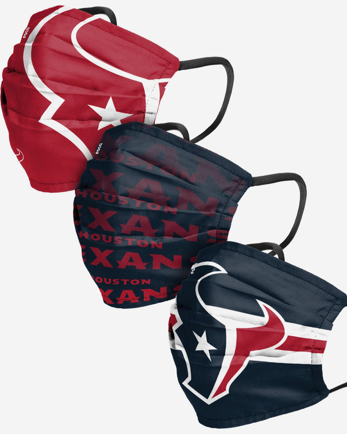 Houston Texans Matchday 3 Pack Face Cover FOCO - FOCO.com