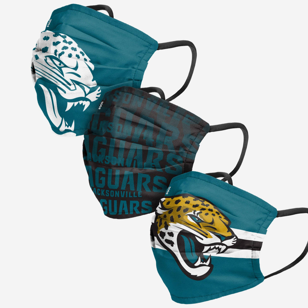 Jacksonville Jaguars Matchday 3 Pack Face Cover FOCO Adult - FOCO.com