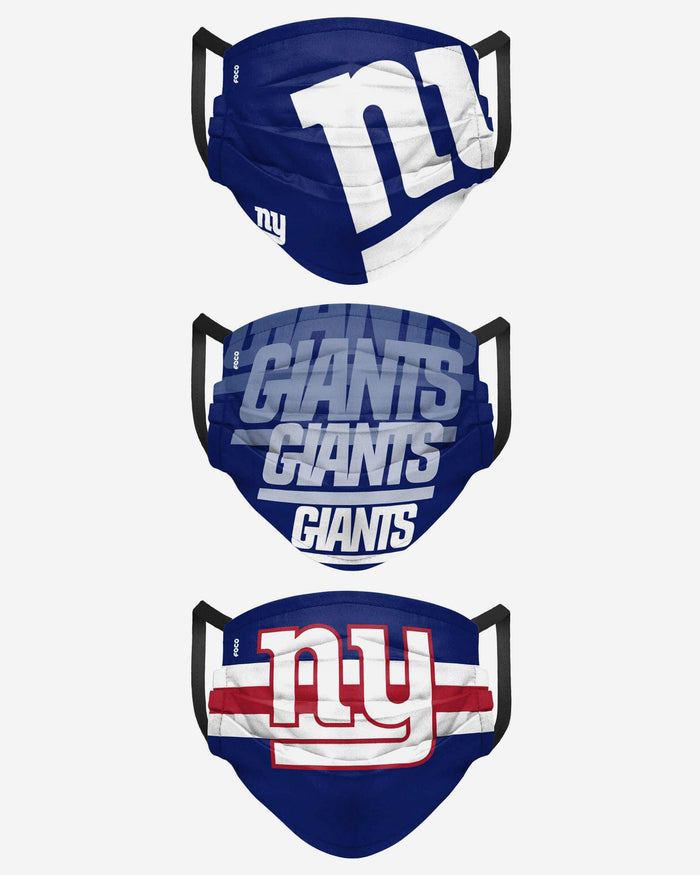 New York Giants Matchday 3 Pack Face Cover FOCO - FOCO.com