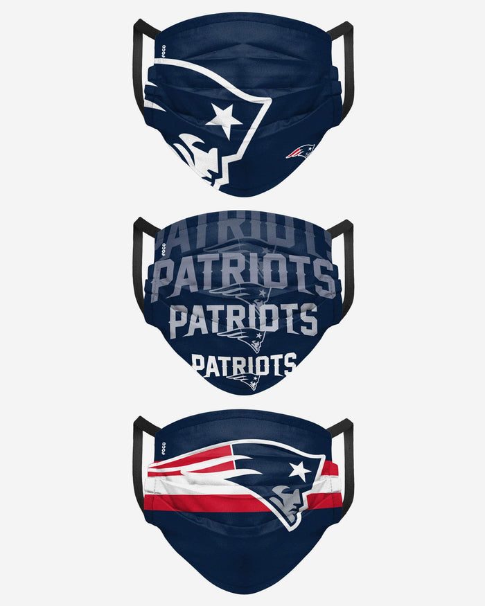 New England Patriots Matchday 3 Pack Face Cover FOCO - FOCO.com