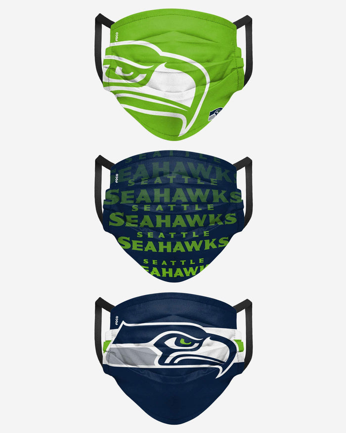 Seattle Seahawks Matchday 3 Pack Face Cover FOCO - FOCO.com