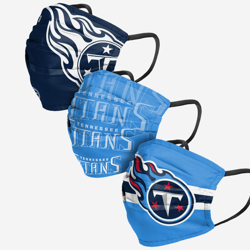 Tennessee Titans Matchday 3 Pack Face Cover FOCO Adult - FOCO.com