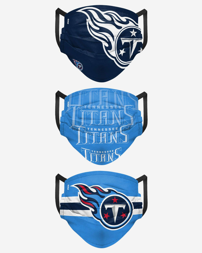 Tennessee Titans Matchday 3 Pack Face Cover FOCO - FOCO.com