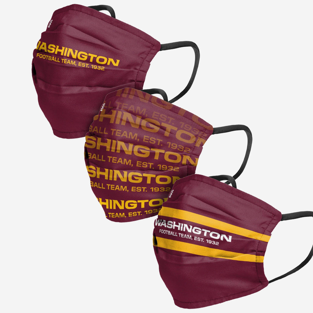 Washington Football Team Matchday 3 Pack Face Cover FOCO - FOCO.com
