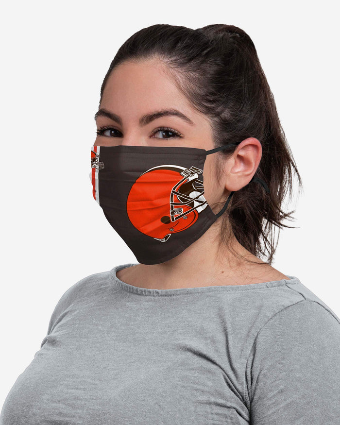 Cleveland Browns On-Field Sideline Logo Face Cover FOCO - FOCO.com