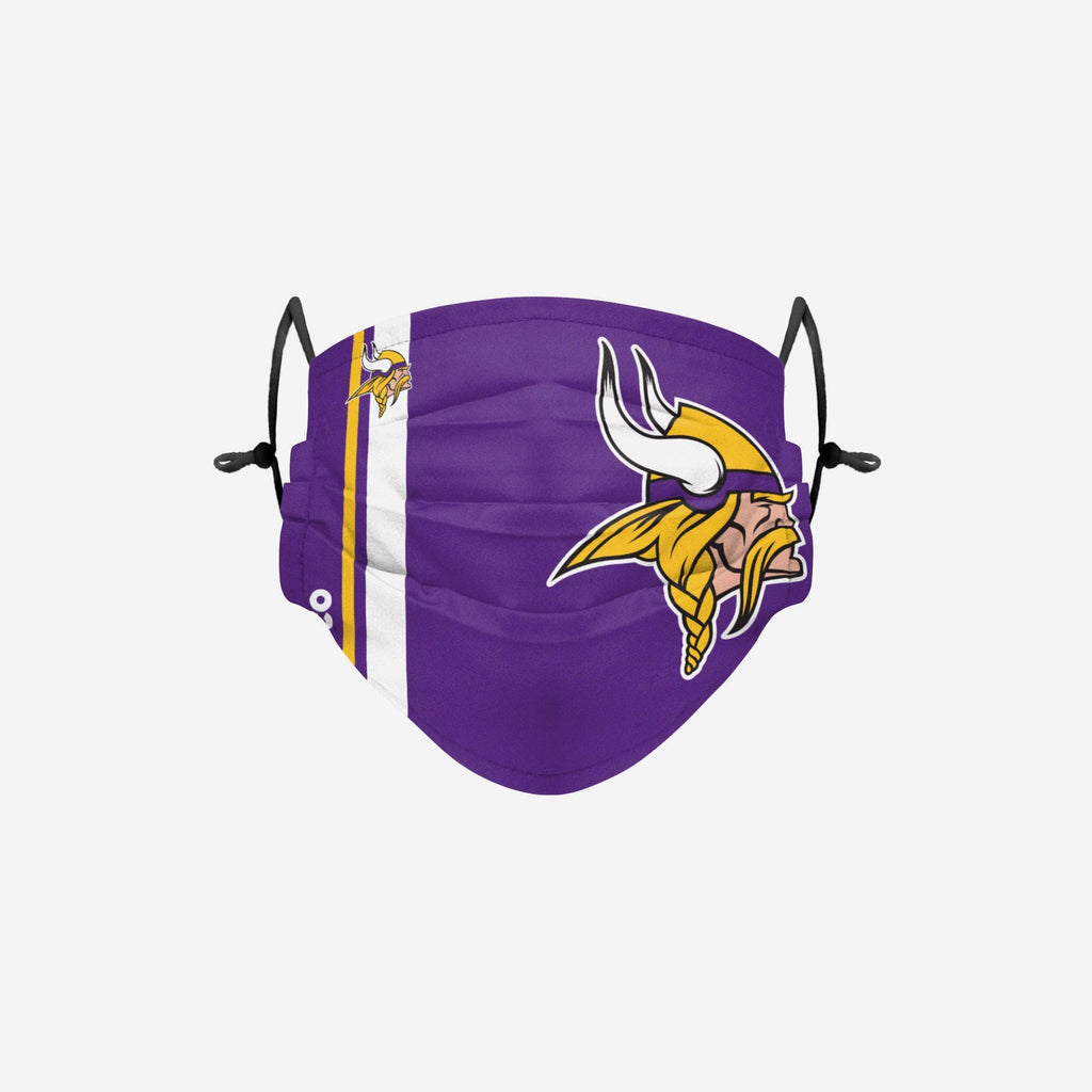 Minnesota Vikings On-Field Sideline Logo Face Cover FOCO Adult - FOCO.com