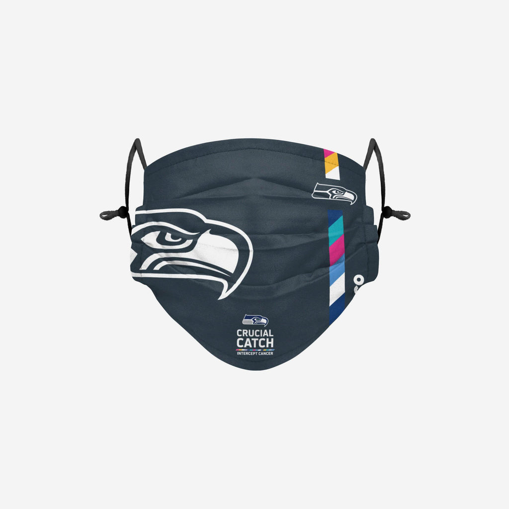 Seattle Seahawks Crucial Catch Adjustable Face Cover FOCO - FOCO.com