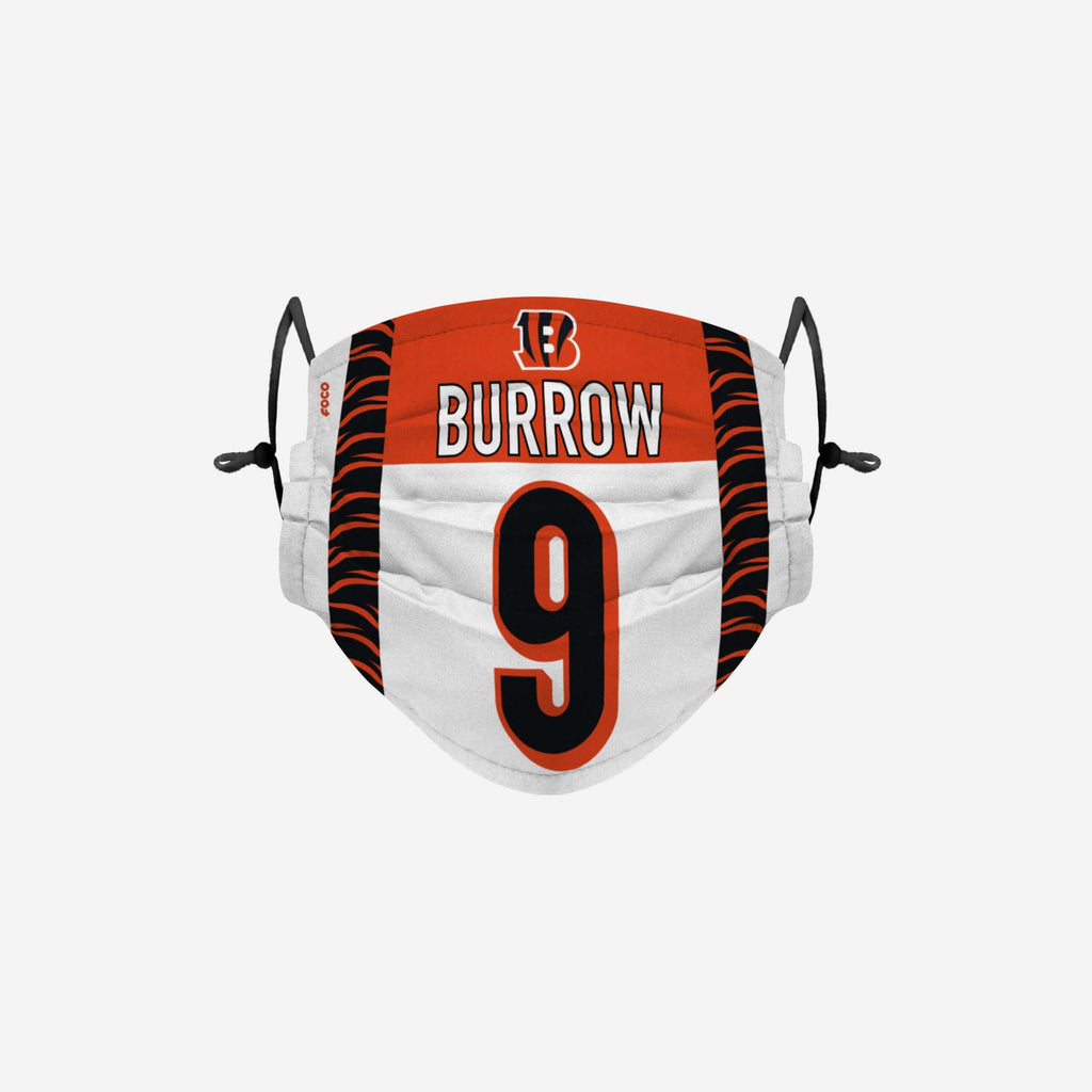 Joe Burrow Cincinnati Bengals Adjustable Face Cover FOCO - FOCO.com