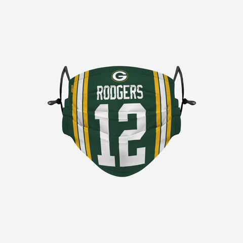 Aaron Rodgers Green Bay Packers Adjustable Face Cover