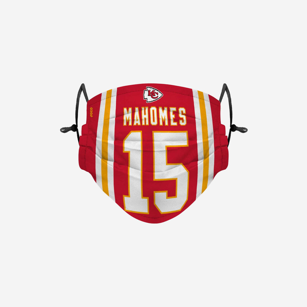 Patrick Mahomes Kansas City Chiefs Adjustable Face Cover FOCO - FOCO.com
