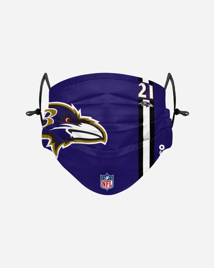 Mark Ingram Jr Baltimore Ravens On-Field Sideline Logo Face Cover FOCO - FOCO.com