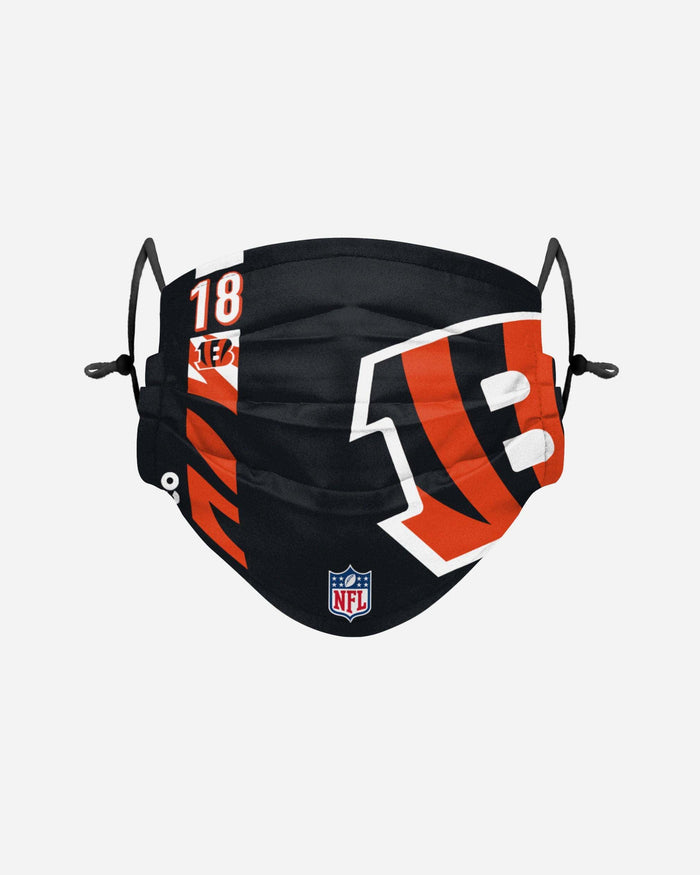 AJ Green Cincinnati Bengals On-Field Sideline Logo Face Cover FOCO - FOCO.com