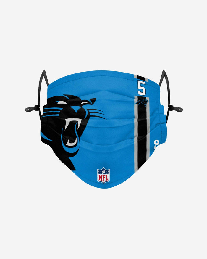 Teddy Bridgewater Carolina Panthers On-Field Sideline Logo Face Cover FOCO - FOCO.com