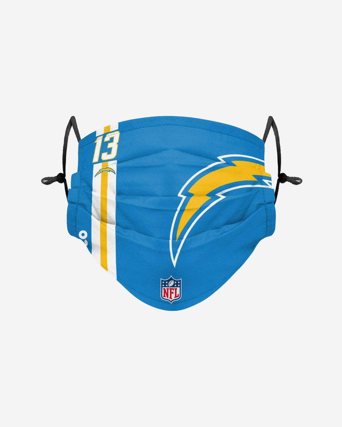 Keenan Allen Los Angeles Chargers On-Field Sideline Logo Face Cover FOCO - FOCO.com