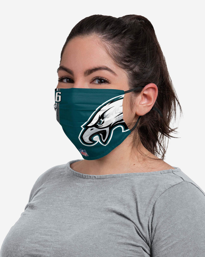Miles Sanders Philadelphia Eagles On-Field Sideline Logo Face Cover FOCO - FOCO.com