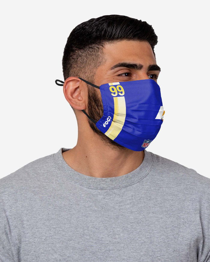 Aaron Donald Los Angeles Rams On-Field Sideline Logo Face Cover FOCO - FOCO.com