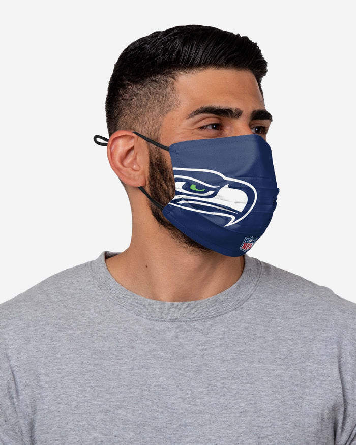 DK Metcalf Seattle Seahawks On-Field Sideline Logo Face Cover FOCO - FOCO.com