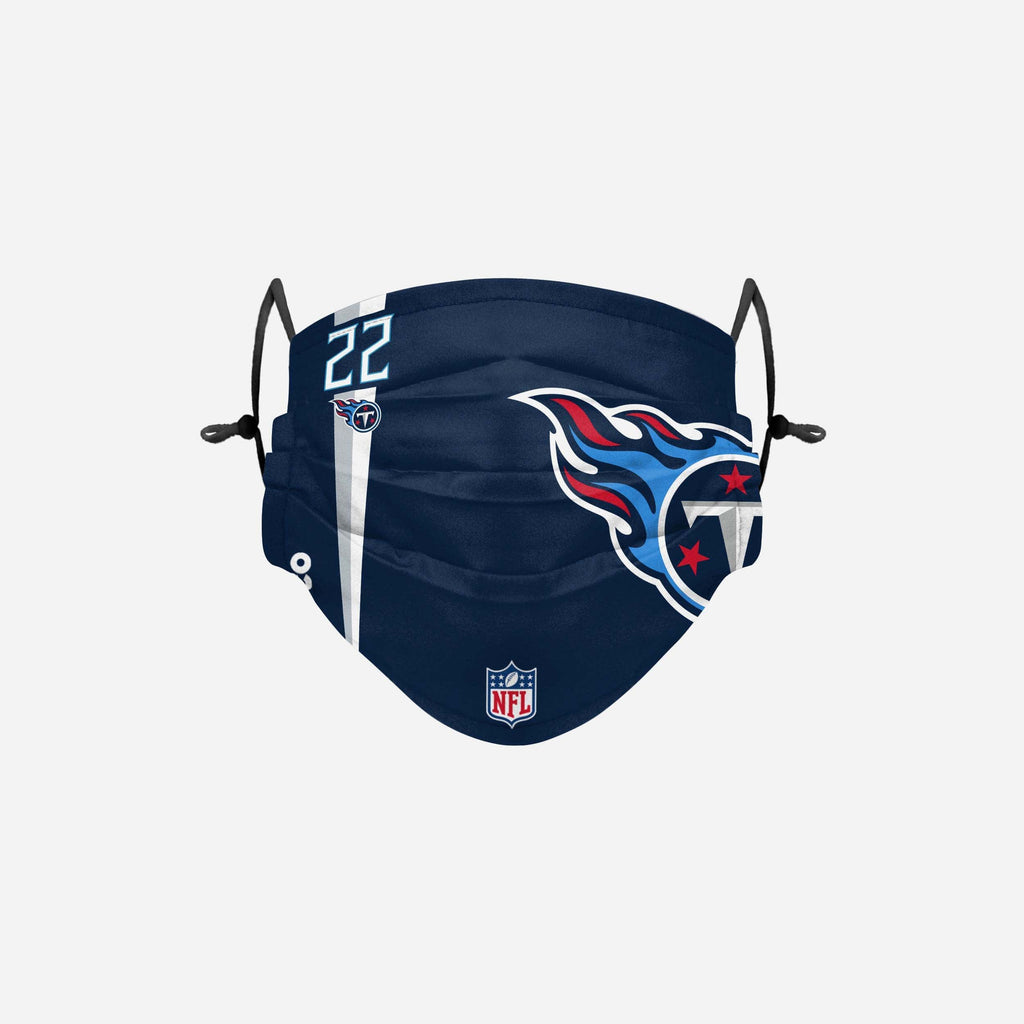 Derrick Henry Tennessee Titans On-Field Sideline Logo Face Cover FOCO - FOCO.com