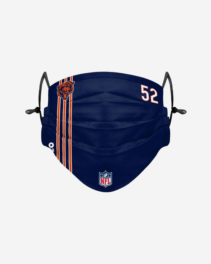 Khalil Mack Chicago Bears On-Field Sideline Face Cover FOCO - FOCO.com