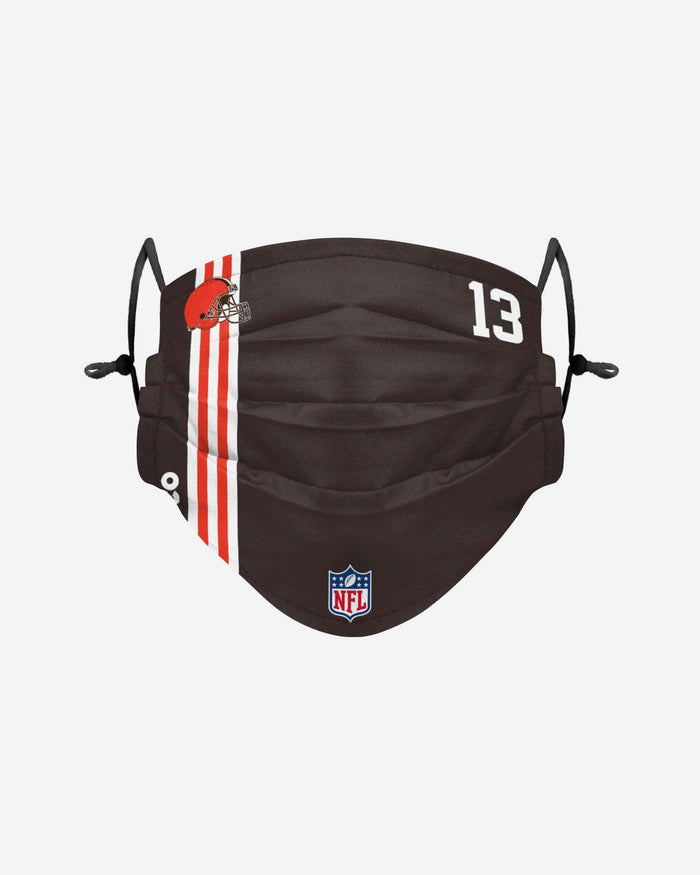 Odell Beckham Jr Cleveland Browns On-Field Sideline Face Cover FOCO - FOCO.com