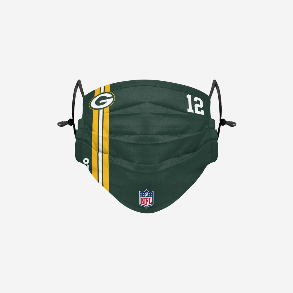 Aaron Rodgers Green Bay Packers On-Field Sideline Face Cover FOCO - FOCO.com