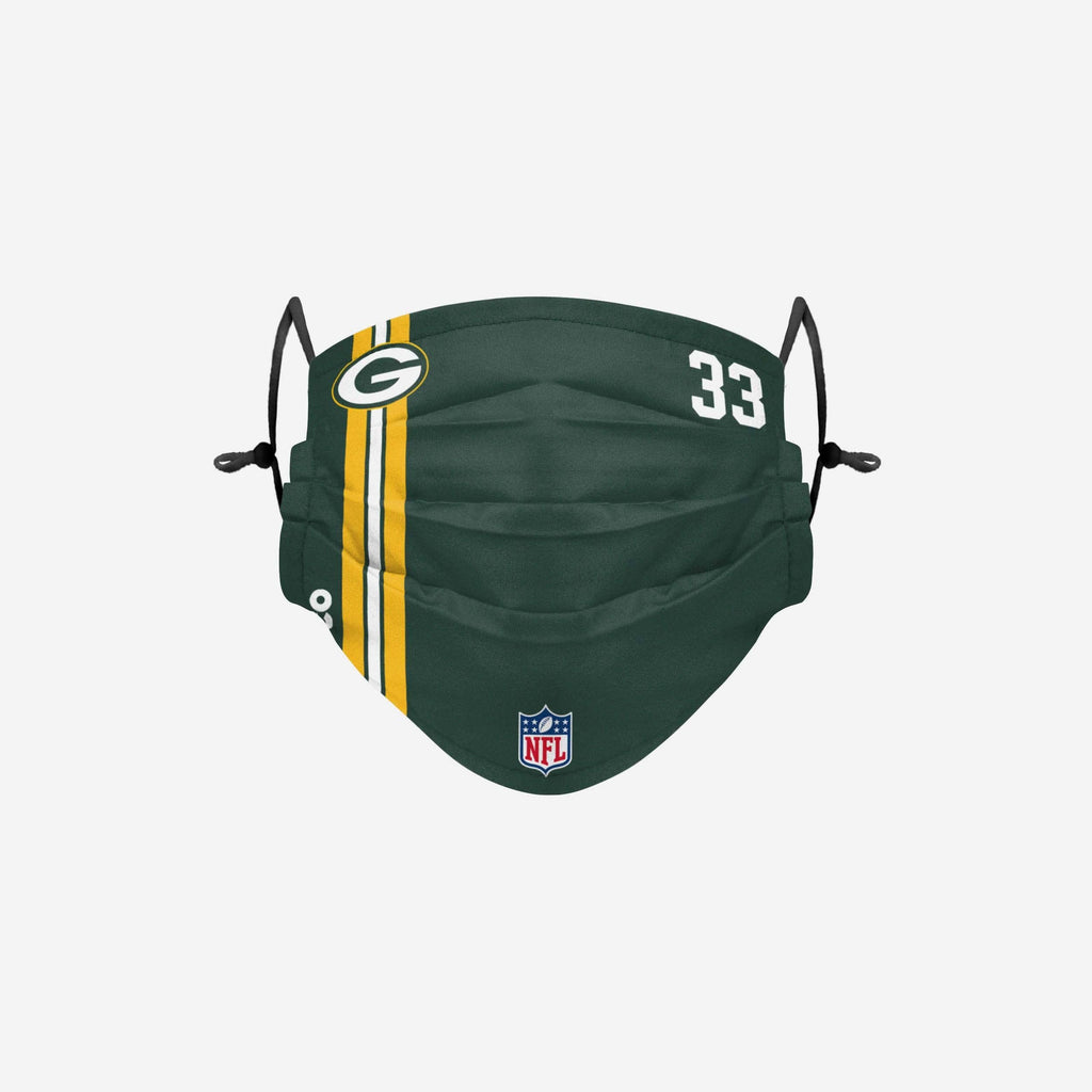 Aaron Jones Green Bay Packers On-Field Sideline Face Cover FOCO - FOCO.com