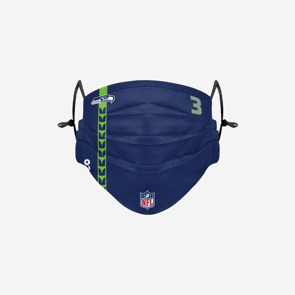 Russell Wilson Seattle Seahawks On-Field Sideline Face Cover FOCO - FOCO.com