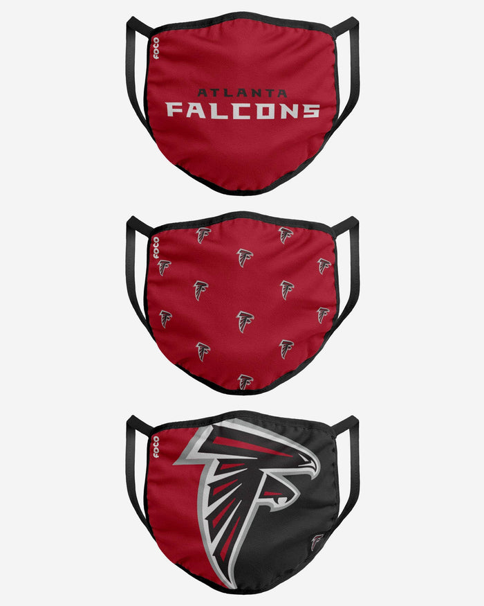 Atlanta Falcons 3 Pack Face Cover FOCO - FOCO.com