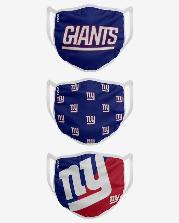 New York Giants 3 Pack Face Cover FOCO - FOCO.com