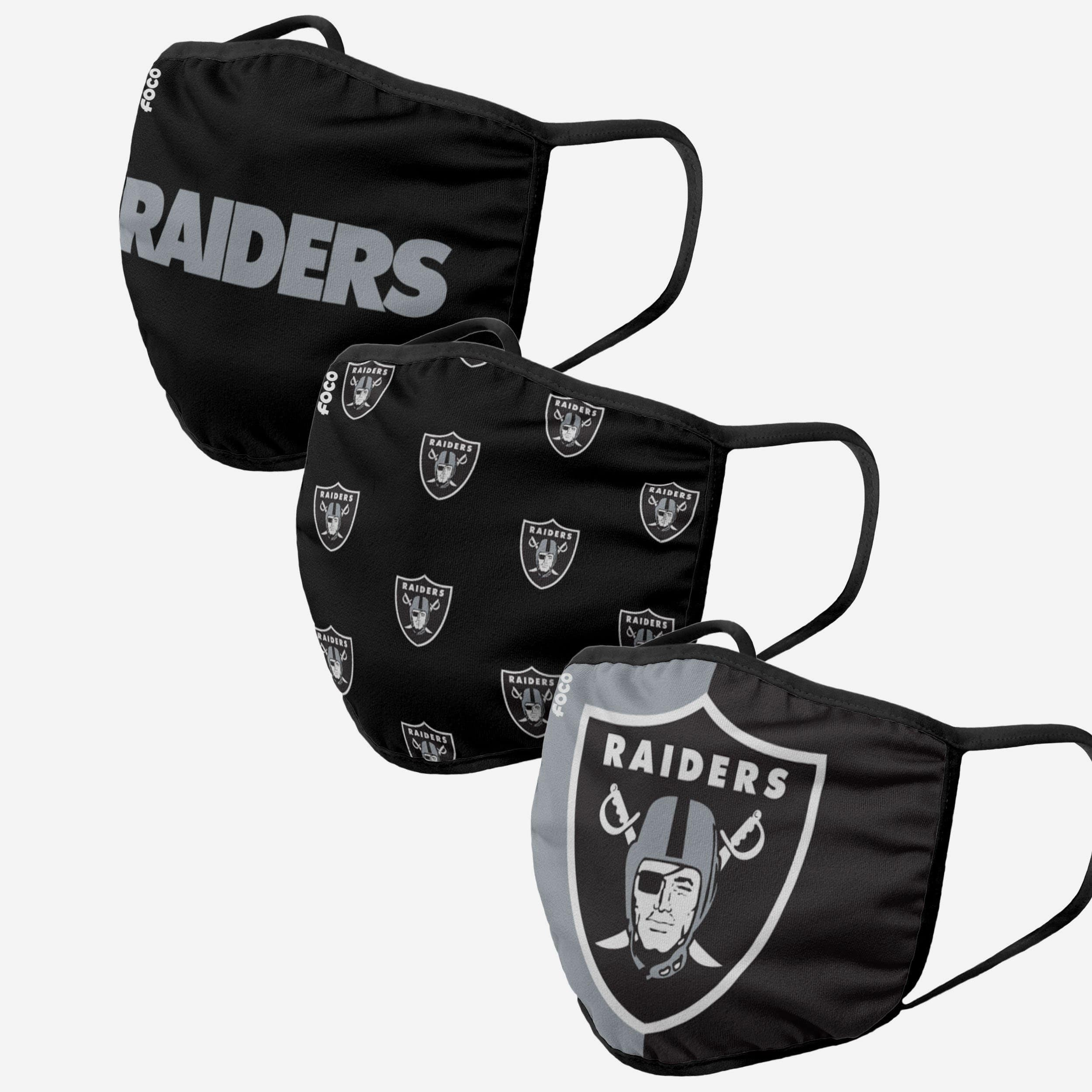 1 Raiders Half Face Shield Raiders Face Shield  face cover Face Protection