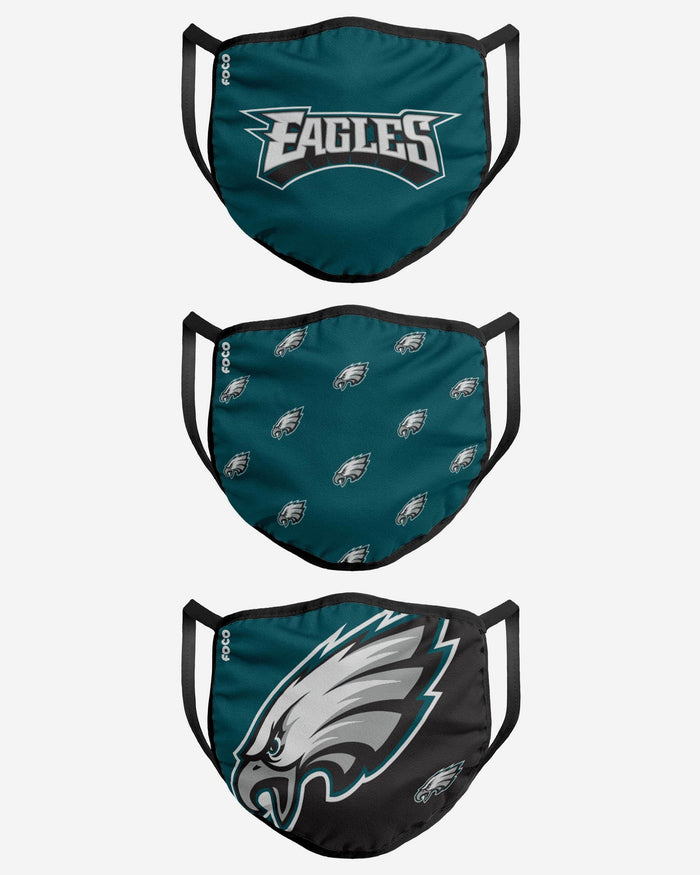Philadelphia Eagles 3 Pack Face Cover FOCO - FOCO.com