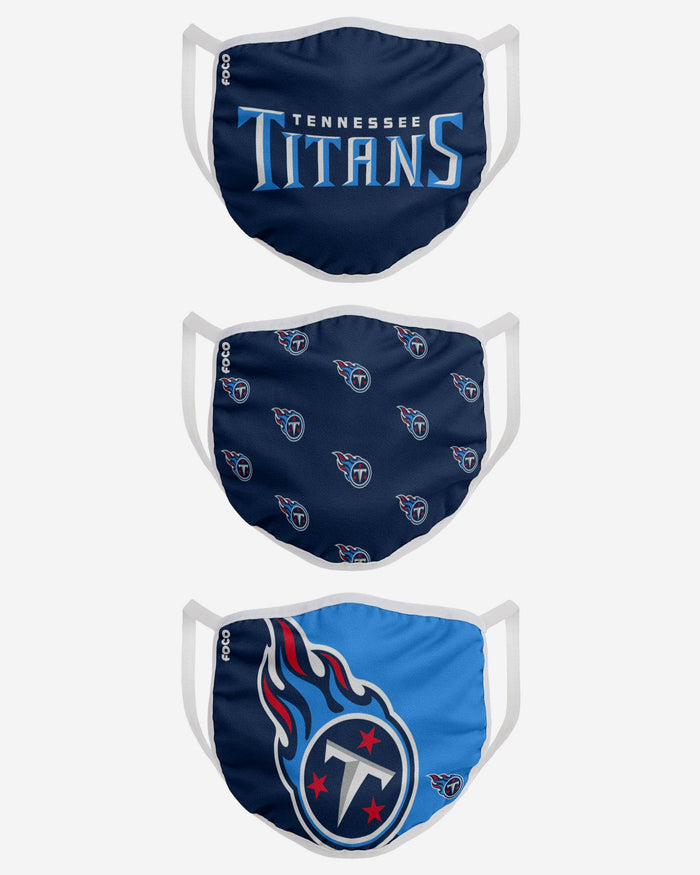 Tennessee Titans 3 Pack Face Cover FOCO - FOCO.com