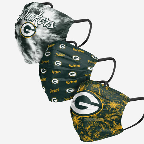 Green Bay Packers Womens Matchday 3 Pack Face Cover