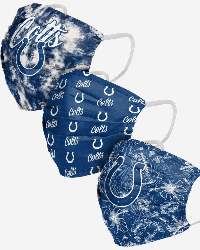 Indianapolis Colts Womens Matchday 3 Pack Face Cover FOCO - FOCO.com
