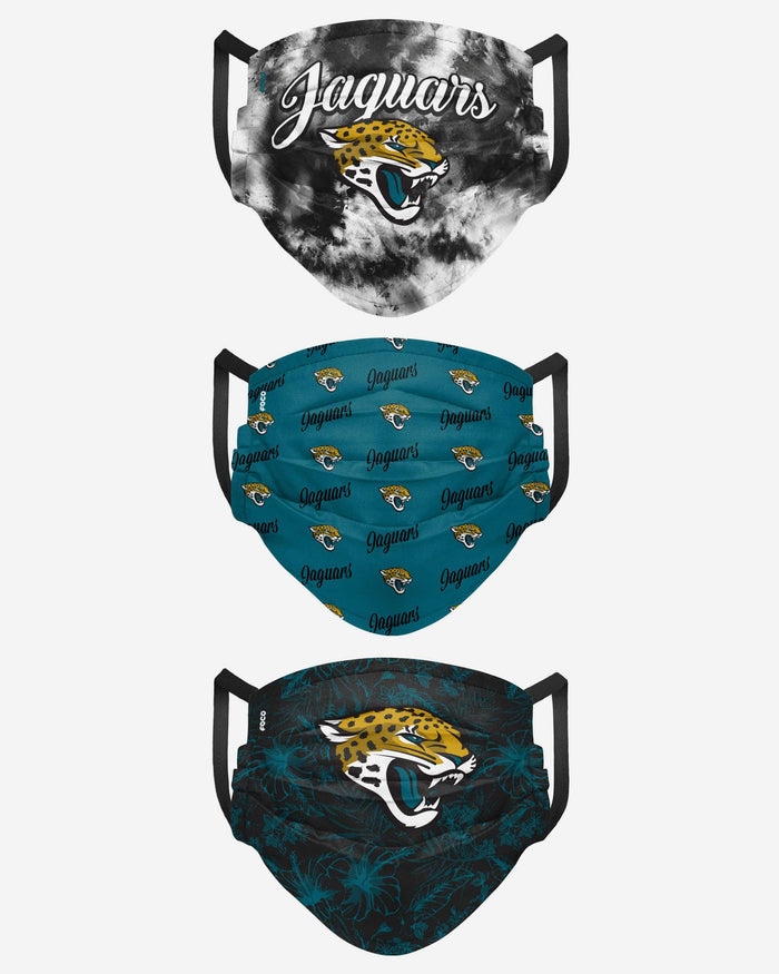 Jacksonville Jaguars Womens Matchday 3 Pack Face Cover FOCO - FOCO.com