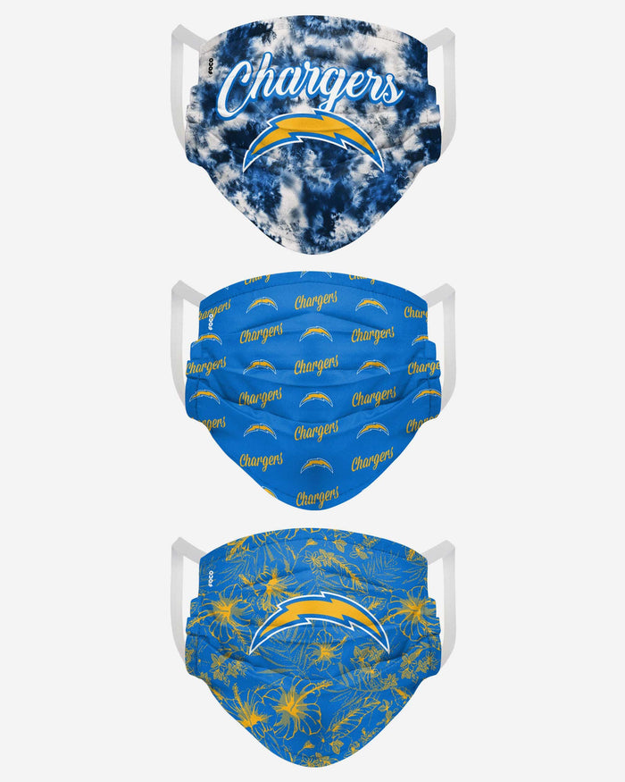 Los Angeles Chargers Womens Matchday 3 Pack Face Cover FOCO - FOCO.com