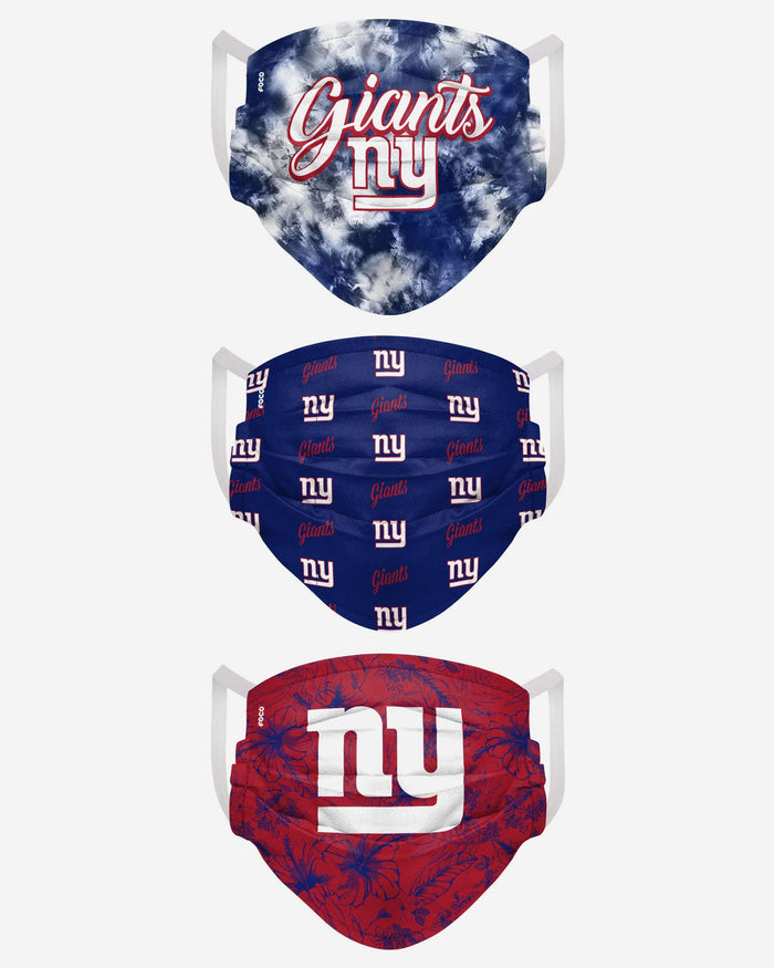 New York Giants Womens Matchday 3 Pack Face Cover FOCO - FOCO.com