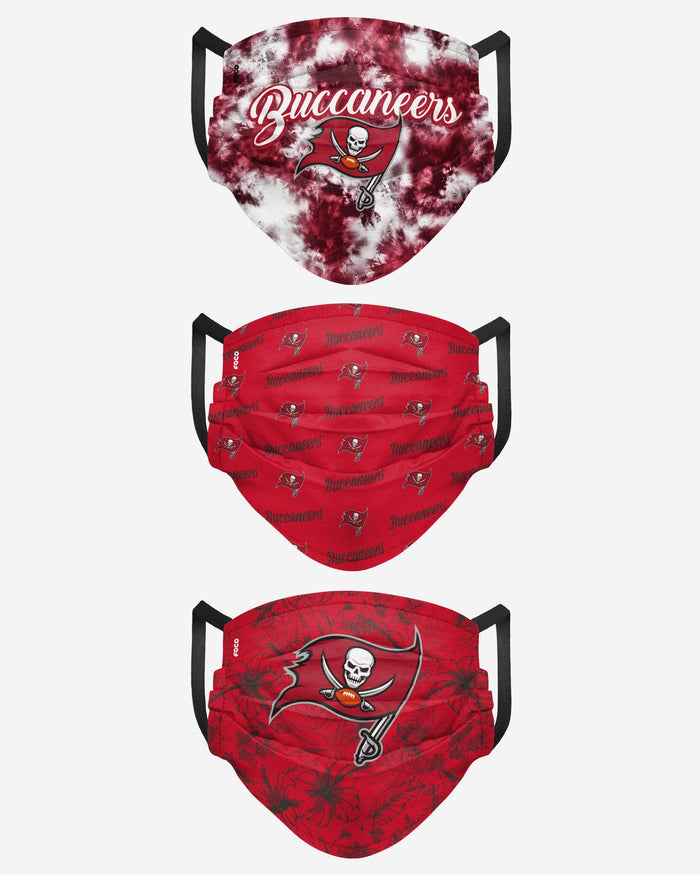 Tampa Bay Buccaneers Womens Matchday 3 Pack Face Cover FOCO - FOCO.com