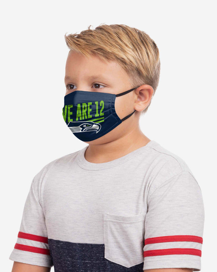 Seattle Seahawks Youth Rising Stars Adjustable 5 Pack Face Cover FOCO - FOCO.com