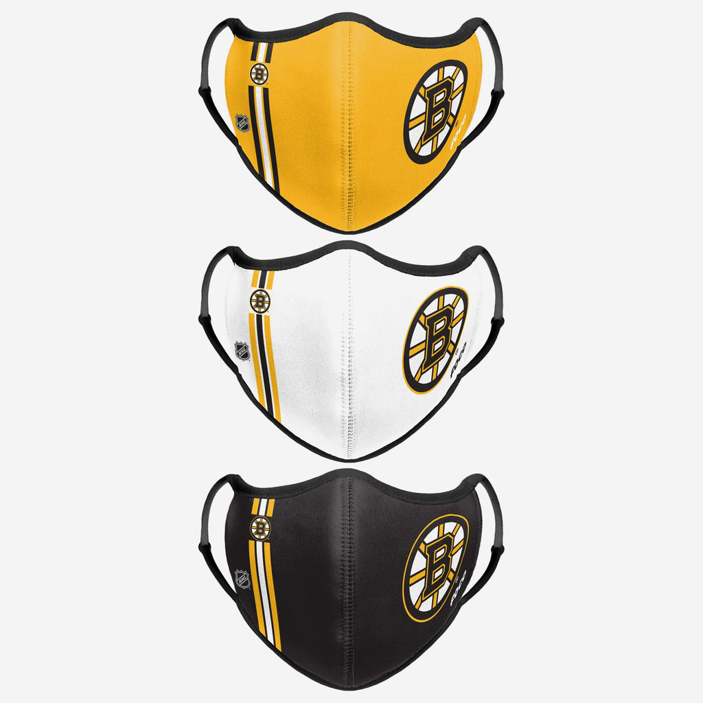 Boston Bruins Sport 3 Pack Face Cover FOCO - FOCO.com