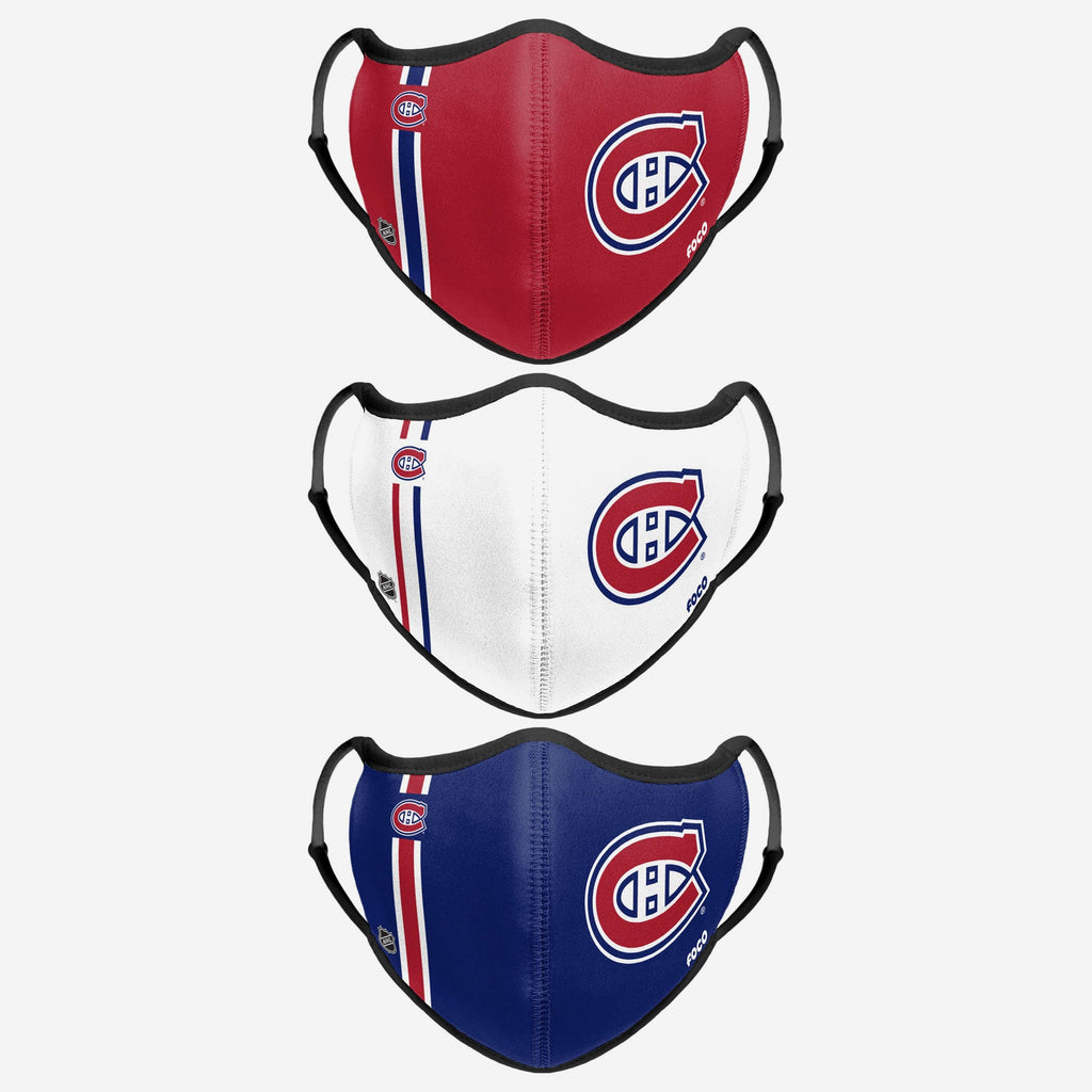 Montreal Canadiens Sport 3 Pack Face Cover FOCO - FOCO.com