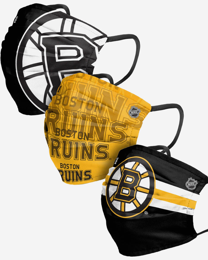 Boston Bruins Matchday 3 Pack Face Cover FOCO - FOCO.com