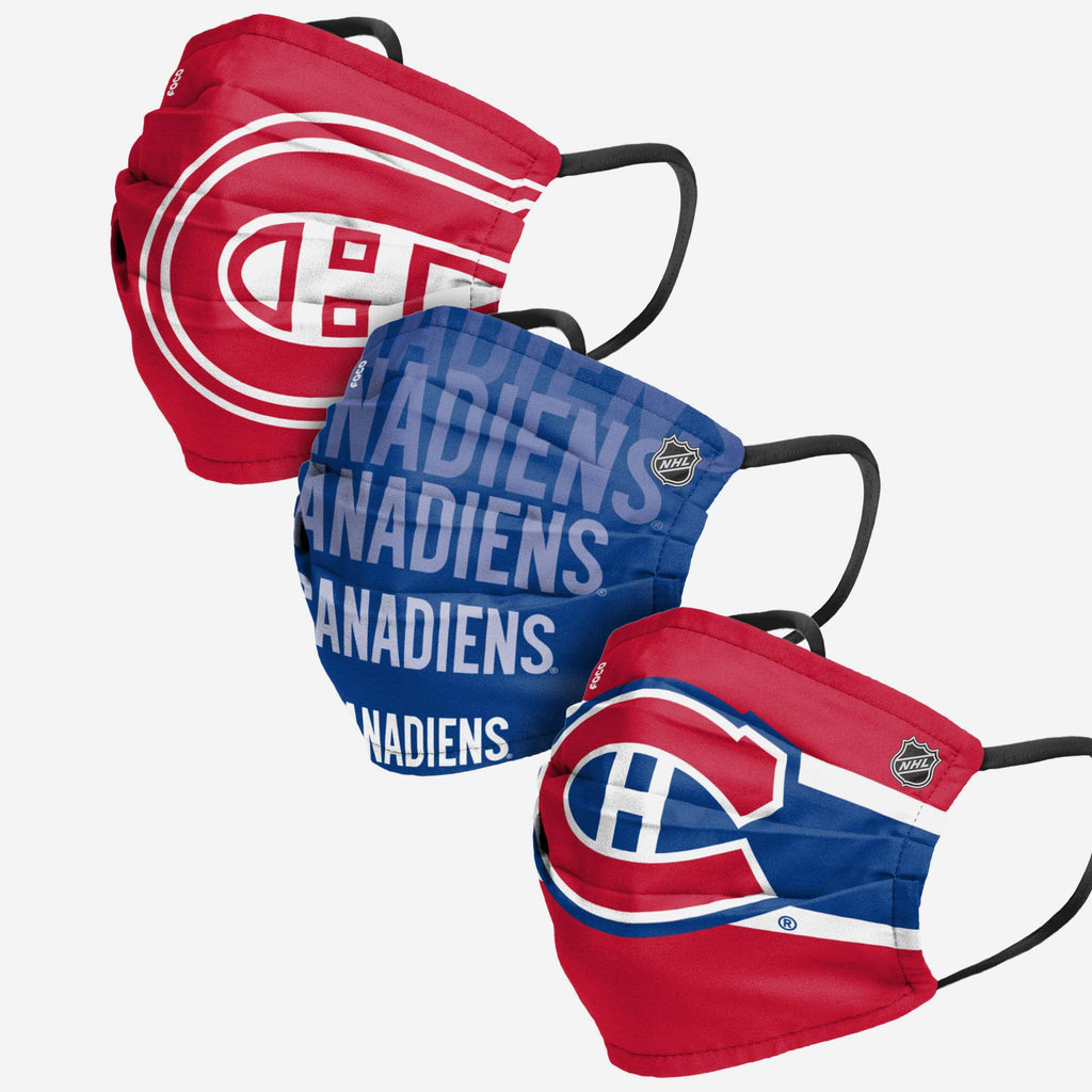 Montreal Canadiens Matchday 3 Pack Face Cover FOCO - FOCO.com