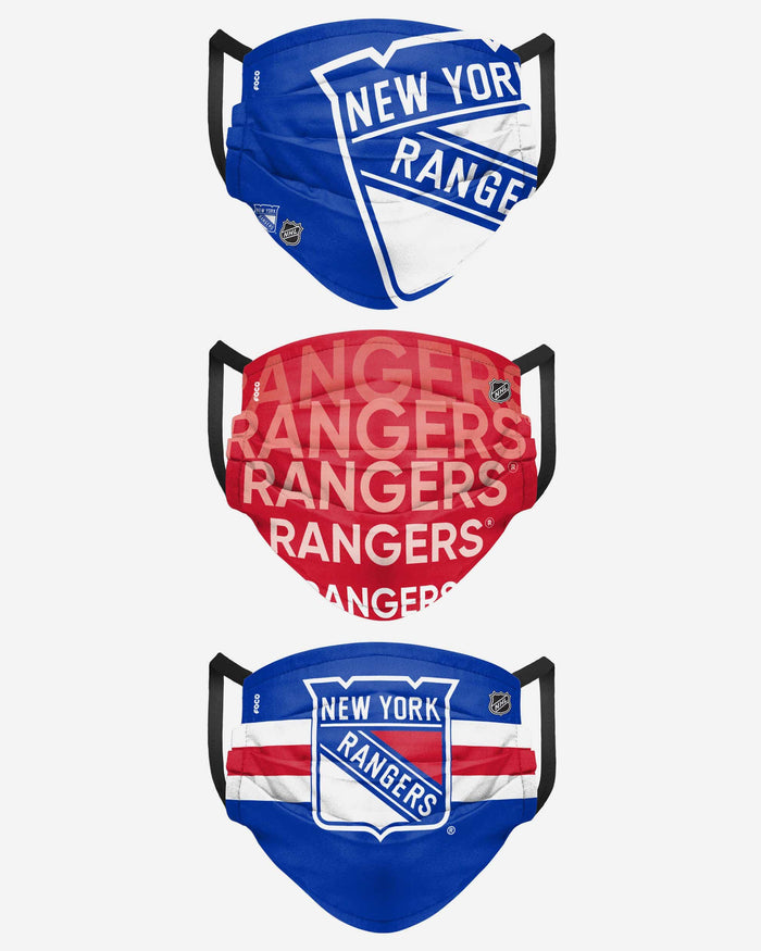 New York Rangers Matchday 3 Pack Face Cover FOCO - FOCO.com