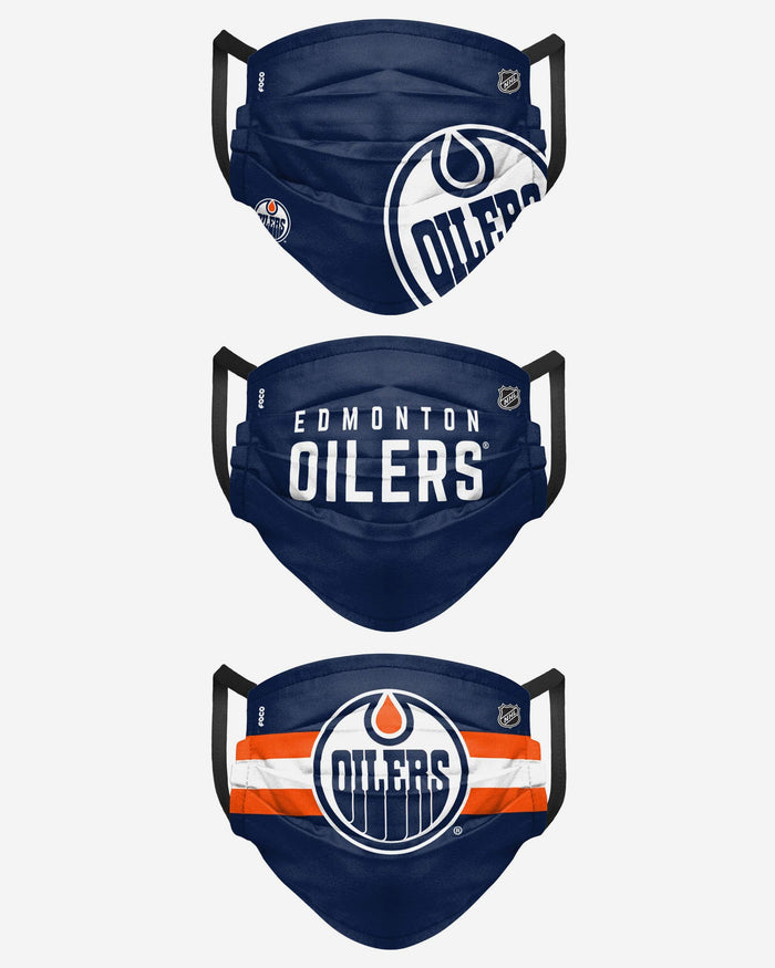 Edmonton Oilers Matchday 3 Pack Face Cover FOCO - FOCO.com