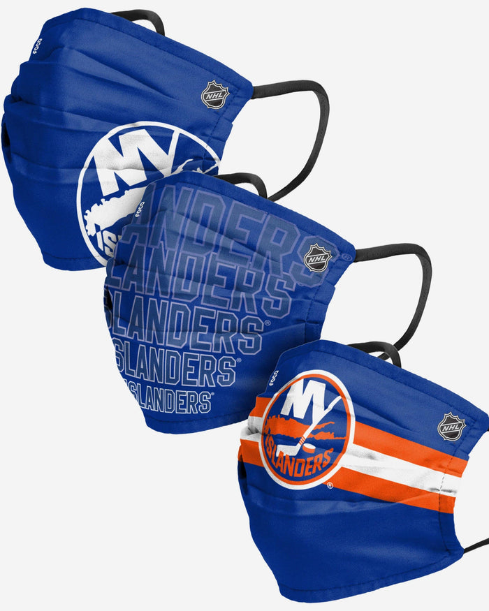New York Islanders Matchday 3 Pack Face Cover FOCO - FOCO.com