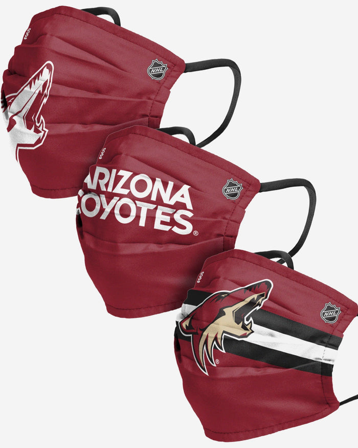 Arizona Coyotes Matchday 3 Pack Face Cover FOCO - FOCO.com