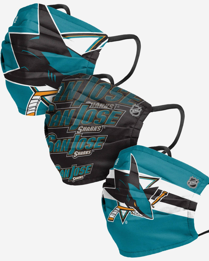 San Jose Sharks Matchday 3 Pack Face Cover FOCO - FOCO.com