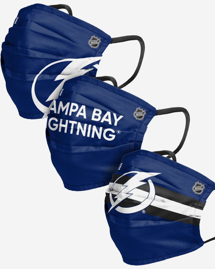 Tampa Bay Lightning Matchday 3 Pack Face Cover FOCO - FOCO.com