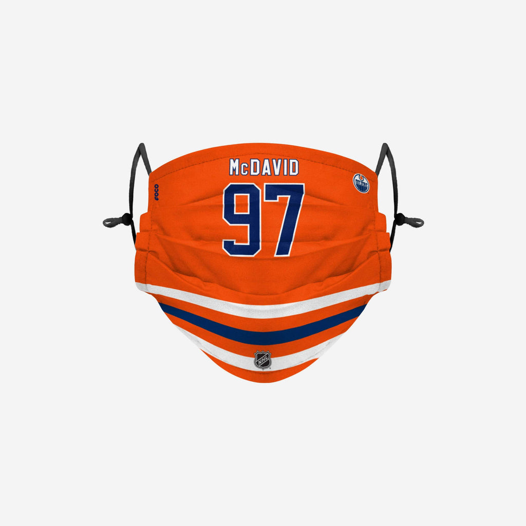Connor McDavid Edmonton Oilers Adjustable Face Cover FOCO - FOCO.com